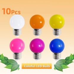 E27 3W AC 220V SMD 2835 - colourful RGB LED bulb - 10 pieces
