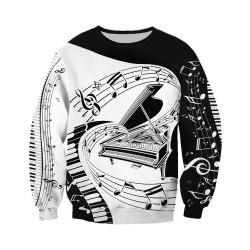 Musical notes - jumper - hoodie - zipper