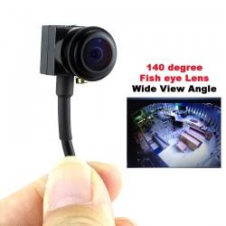 700TVL - 140 degree - wide angle - fisheye lens - mini security camera / video