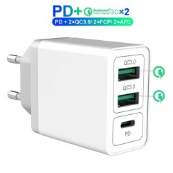 Dual usb charger - fast charge - wall charger