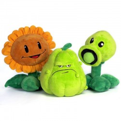 Zombie plants - peas - sunflower - squash - plush toys - 30cm