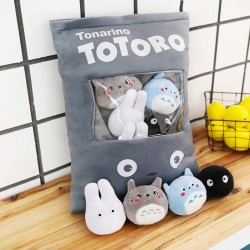 Totoro pillow with soft small plush toys inside - 8 pieces