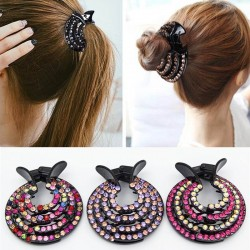 Hair clip for women with rhinestone crystals