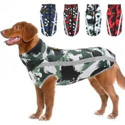 Warm dog jacket - reflective - leash hole - waterproof