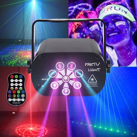 Mini RGB LED disco party light - laser projector - USB rechargeable