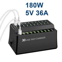 Smart USB charger - 180W - 36A - iPhone - Samsung