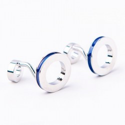 Double ring cufflinks - 2pcs