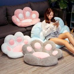 Cat paw shaped pillow - chair seat - soft rug