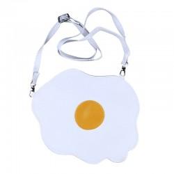 Egg shaped crossbody / shoulder small bag - white