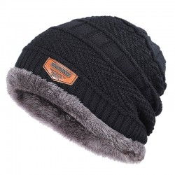 Knitted warm hat - with...