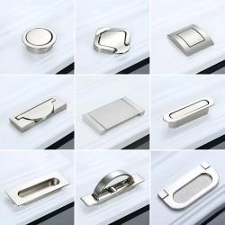 Hidden furniture handles - recessed cover - zinc alloy