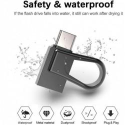 Mini memory stick - dual USB - 3.0 - OTG type-C - waterproof - rotatable- 32GB - 64GB - 128GB