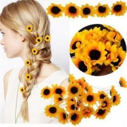 Sunflower - hair pin - 10pcs / set