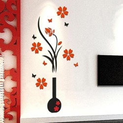 3D vase with flower tree -...