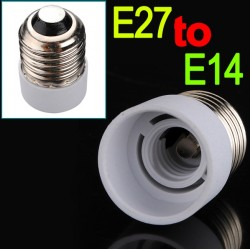 E27 to E14 fitting - bulb - lamp converter