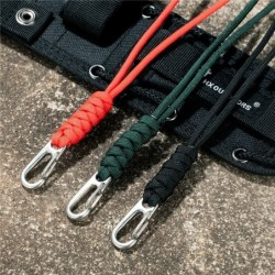 Multi-functional paracord - survival / emergency rope - with keychain
