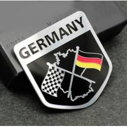 German Flag Germany Metal Emblem Sticker