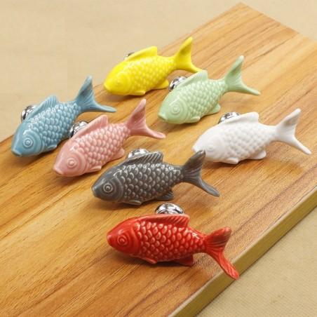 Fish shaped knobs - furniture handles