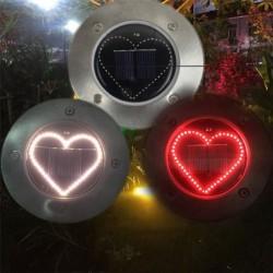Heart shaped solar lamp - garden light - lawn / porch / patio