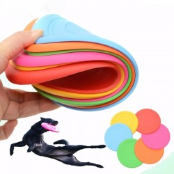 Silicone frisbee - flying disc - dog training toy - chewing resistant