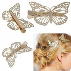 Gold butterfly hair clip - women / ladies / bride
