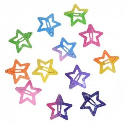 Butterfly / star shaped - colorful hair clips - 12 pieces / set