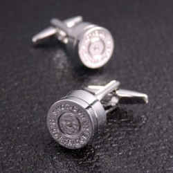 Bullet shaped round silver...