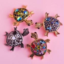 Crystal tortoise brooch -...