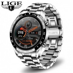 LIGE - Smart Watch - Bluetooth - heart rate monitoring - music control - waterproof