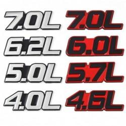 3D metal car sticker - engine size emblem - 4.0L - 7.0L