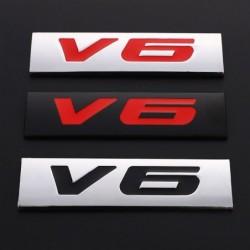 3D metal car sticker - engine size emblem - V6 - V8
