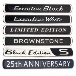 Car sticker - emblem - Brownstone / Executive White / Black / Limited Edition