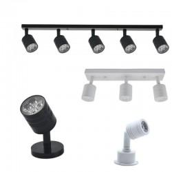 Modern LED wall lamp - rotatable - 1 / 3 / 5 heads