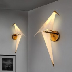 LED wall lamp - origami paper bird design