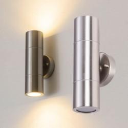 LED wall light - stainless steel lamp - up / down lightning