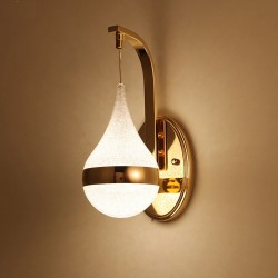 Modern LED wall light - vintage LED sconce - gold iron