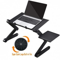 Multifunction tablet / laptop stand - table - with mouse pad - adjustable - foldable