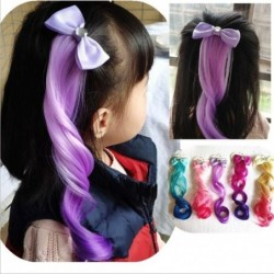 Bowknot with fake hair - colourful wig - hair clip