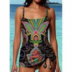 Vintage one piece swimming suit - with long tie-up top