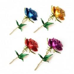 Elegant brooch - enamel rose