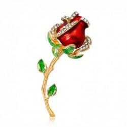 Elegant vintage brooch - with crystal rose