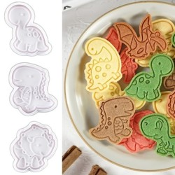 Cookie cutter mold - dinosaurs shaped - 4 pieces