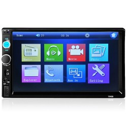 Bluetooth - Autoradio DIN 2 - Touchscreen LCD da 7 '' pollici - Lettore MP3 MP5 - MirrorLink
