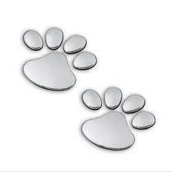 3D Animal Foot Print Car Sticker