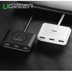Ugreen Super Speed 4 Port USB HUB 3.0 Portable OTG HUB USB Splitter With LED Lamp New For Apple Macbook Air Laptop PC Tablet