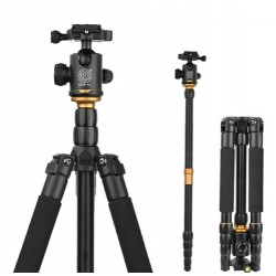 Q666 Professional Portable SLR - DSLR Tripod Monopod With Ball Head