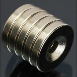N50 Neodymium Magnet Countersunk Ring With 4mm Hole 15 * 3mm 5pcs