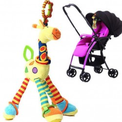 Soft Giraffe Animal Toy Baby Pram Bed Hanger