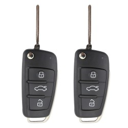 Audi Button Replacement Flip Car Key Shell 2pcs