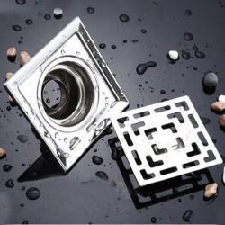Scarico per pavimento bagno quadrato in acciaio inox 10cm